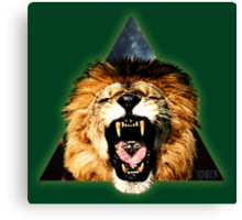 Lion Triangle Canvas Print