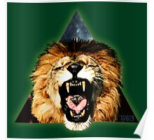 Lion Triangle Poster