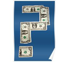 Question Mark of American Money Poster