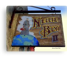 NELLIE BLY, pioneer as a woman Journalist Canvas Print