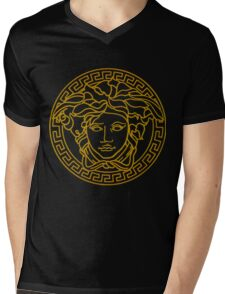 Versace golden medusa Mens V-Neck T-Shirt