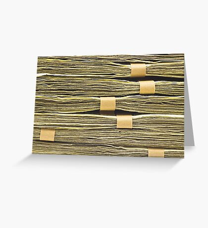 Large Stack Of American Cash Money Greeting Card