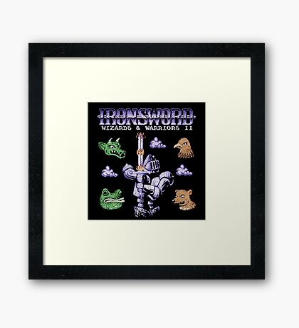 SwordIron Framed Print