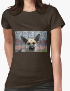 tiny terrier dog Womens Fitted T-Shirt