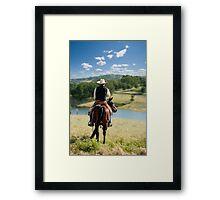 Taking in the scenery  Framed Print
