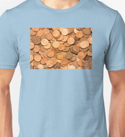 Pile of American pennies Unisex T-Shirt