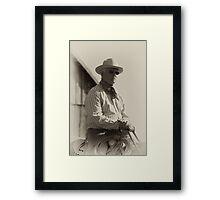 Vintage Texan Framed Print