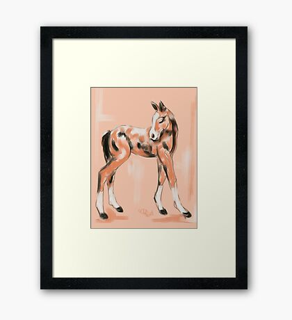 Foal Peach Framed Print