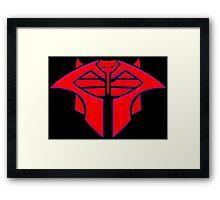 Cobra Decepticon Magneto Mashup Framed Print