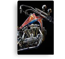 Evel Knievel Harley XLCH Chopper Engine Canvas Print