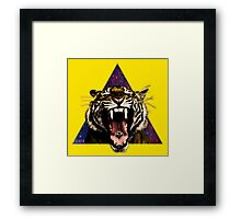 Tiger Triangle Framed Print