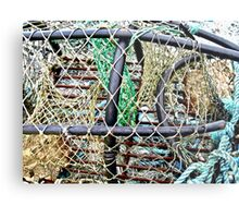 Old Nets and Lobster Pots, Mullaghmore, Sligo, Donegal, Ireland Metal Print