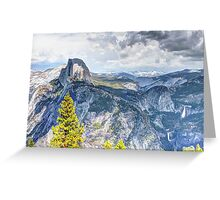 Half Dome from Glacier Point, Yosemite National Park, CA Greeting Card