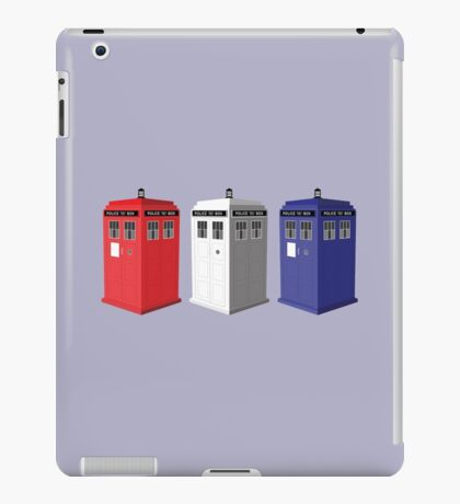 Whovian red, white and blue iPad Case/Skin