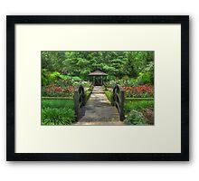 Spring Gazebo, Sonoma County, CA Framed Print
