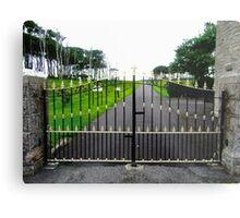 The Gates of Classiebawn Castle, Mullaghmore, Sligo, Donegal, Ireland Metal Print