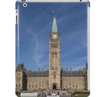 Center block of the Canadian Parliament - Ottawa, Ontario iPad Case/Skin