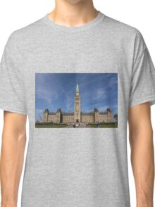 Center block of the Canadian Parliament - Ottawa, Ontario Classic T-Shirt