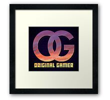 Original Gamer Framed Print