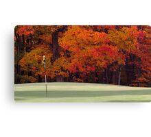 Golfing in autumn Canvas Print