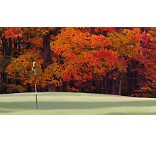 Golfing in autumn Photographic Print