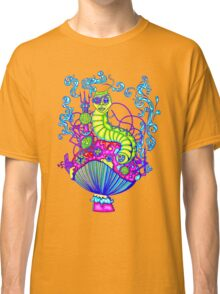 Hooka Smoking Caterpillar Glow Classic T-Shirt
