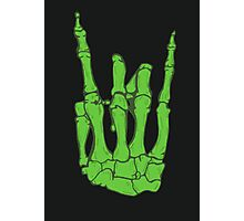 Skeleton hand | Green Photographic Print