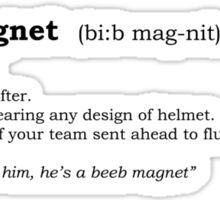 Beeb magnet - Dictionary entry Sticker