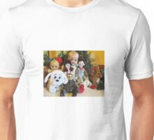 Group Photo of Old Characters at Christmas Unisex T-Shirt