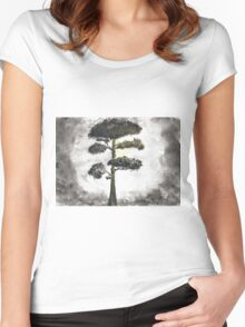Old, Tall, Lonely Women's Fitted Scoop T-Shirt
