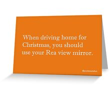 Driving. Greeting Card
