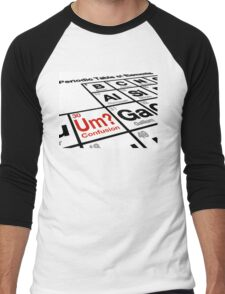 UM? The Element of Confusion? Men's Baseball ¾ T-Shirt