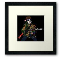 Combat Crayon Framed Print