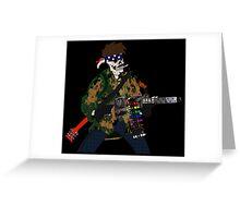 Combat Crayon Greeting Card