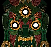 Green Demon for Shirts by Artsworth