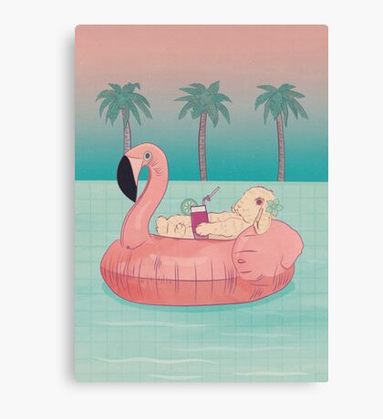 Summer Holiday Rabbit Canvas Print