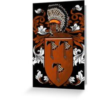 New World Coat of Arms Greeting Card
