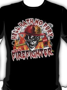 Firefighter Skull 5: Hell Hath No Fury T-Shirt