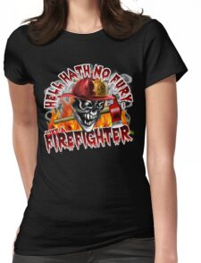 Firefighter Skull 5: Hell Hath No Fury Womens Fitted T-Shirt