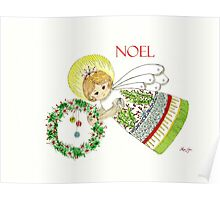 Christmas Angel Holly Poster
