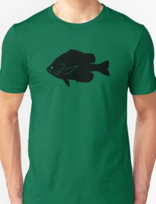 Bluegill Fish Silhouette (Black) Unisex T-Shirt