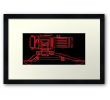 Machine Gun Camera Lines Framed Print