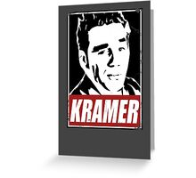 OBEY COSMO KRAMER Greeting Card