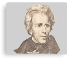 Portrait of Andrew Jackson Canvas Print