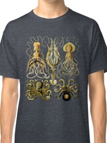Octopus & Squid - Naturalist Illustration - Scientific Drawing Classic T-Shirt