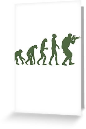 Evolution of ape to airsofter by Bmused55