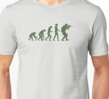 Evolution of ape to airsofter Unisex T-Shirt