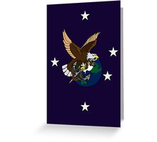 Eagle Globe and Anchor Retro Tattoo Greeting Card