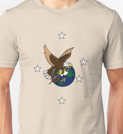 Eagle Globe and Anchor Retro Tattoo Unisex T-Shirt