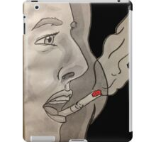 Cigarette on your lips iPad Case/Skin